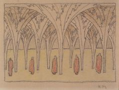 Stage design for 'The lake' of Julius Bittner – Koloman Moser