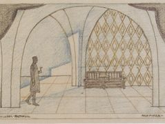 Stage design for 'The minutes of love' by Edward Bauersfeld – Koloman Moser