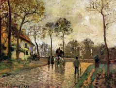 Stagecoach to Louveciennes – Camille Pissarro