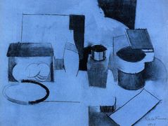 Still Life, Tin of Tea and Pot of Tobacco – Roger de La Fresnaye