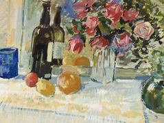Still Life with a Bottle of Vine – Nikolay Bogdanov-Belsky