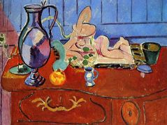 Still Life with a Pewter Jug and Pink Statuette  – Henri Matisse
