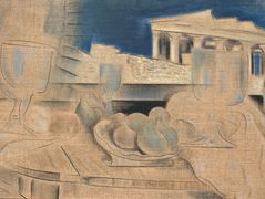 Still Life with Acropolis in the Background – Konstantinos Parthenis