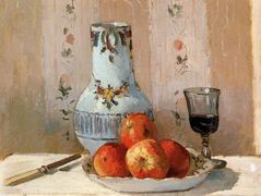 Still Life with Apples and Pitcher – Camille Pissarro