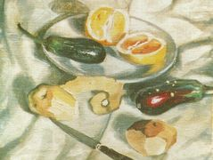 Still Life with Aubergines – Salvador Dali