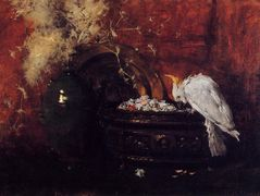 Still Life with Cockatoo — William Merritt Chase