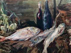 Still life with fish  – Konstantin Korovin