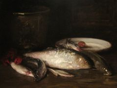 Still-Life with Fish — William Merritt Chase