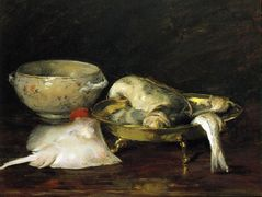 Still Life with Fish — William Merritt Chase