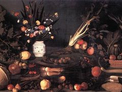 Still Life with Flowers and Fruit – Caravaggio