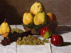 Still Life with Pears and Grapes – Claude Monet