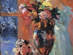Still life with portrait of Pertseva  – Konstantin Korovin