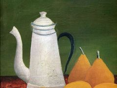 Still life with teapot and fruit – Henri Rousseau