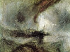 Storm Seam Boat off a Harbour's Mouth Making Signals in Shallow Water, and Going by the Lead – William Turner