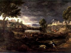 Stormy Landscape with Pyramus and Thisbe – Nicolas Poussin