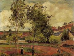 Strong Winds, Pontoise – Camille Pissarro