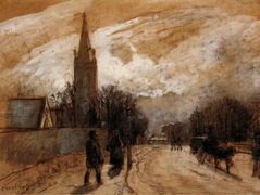 Study for 'All Saints' Church, Upper Norwood' – Camille Pissarro