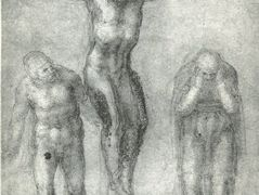 Study for «Christ on the cross with Mourners» — Michelangelo