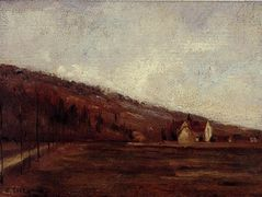 Study for The Banks of Marne in Winter – Camille Pissarro