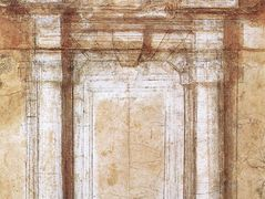 Study for the Porta Pia (a gate in the Aurelian Walls of Rome) — Michelangelo