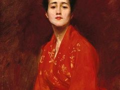 Study of a Girl in a Japanese Dress — William Merritt Chase