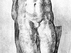 Study of a Nude Man — Michelangelo