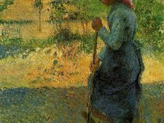 Study of a Peasant in Open Air (also known as Peasant Digging) – Camille Pissarro