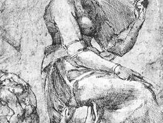 Study of a Seated Woman — Michelangelo