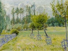 Study of Apple Trees at Eragny – Camille Pissarro
