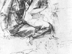 Study to «Madonna and Child with St.John the Baptist» — Michelangelo