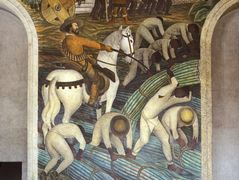 Sugar Plantation, Tealtenango, Morelos and Indian Slaves in the Gold Mines – Diego Rivera
