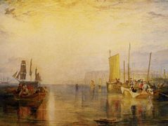 Sunrise, Whiting Fishing at Margate — William Turner