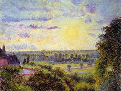 Sunset at Eragny – Camille Pissarro