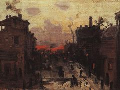 Sunset at the Outskirt of the Town – Konstantin Korovin