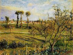 Sunset at Valhermeil, near Pontoise – Camille Pissarro