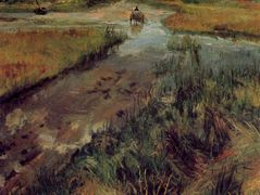 Swollen Stream at Shinnecock — William Merritt Chase