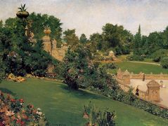 Terrace at the Mall, Cantral Park — William Merritt Chase