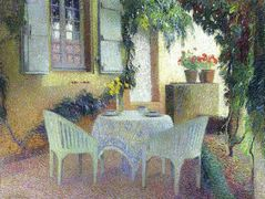 Terrace of the Manor in Marquayrol – Henri Martin