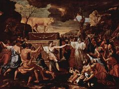 The Adoration of the Golden Calf – Nicolas Poussin