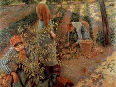 The Apple Pickers – Camille Pissarro