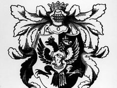 The arms of hetman Cyril Razumovsky – Heorhiy Narbut