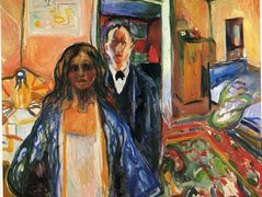 The Artist and His Model — Edvard Munch