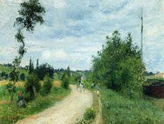 The Auvers Road, Pontoise – Camille Pissarro