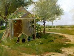 The Back Yard, Shinnecock, Long Island, New York — William Merritt Chase