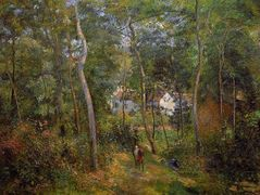 The Backwoods of l'Hermitage, Pontoise – Camille Pissarro