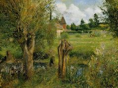 The Banks of the Epte at Eragny – Camille Pissarro
