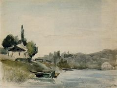 The Banks of the Marne at Cennevieres – Camille Pissarro