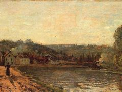 The Banks of the Seine at Bougival – Camille Pissarro