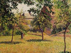 The Barn, Morning, Eragny – Camille Pissarro