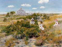 The Bayberry Bush — William Merritt Chase
